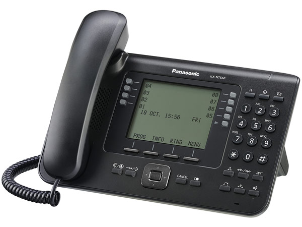 системный IP-телефон Panasonic KX-NT560RU black