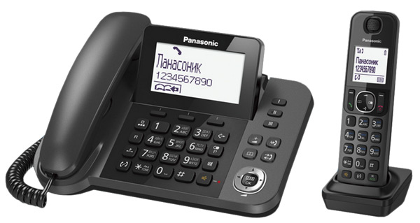 радиотелефон DECT Panasonic KX-TGF310RU grey