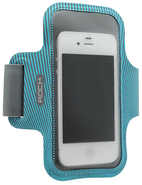 чехол для бега на руку Rock Smart Sport Armband для Apple iPhone 6 4,7 blue/grey