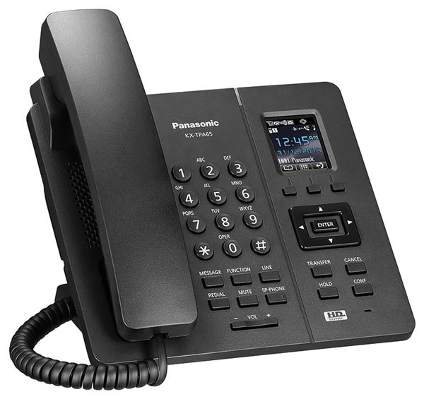 Стационарный DECT телефон Panasonic KX-TPA65RU black