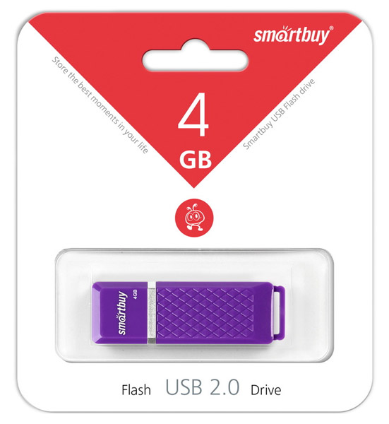 флешка USB SmartBuy Quartz series 4Gb violet