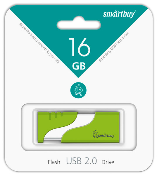 флешка USB SmartBuy Hatch 16Gb green