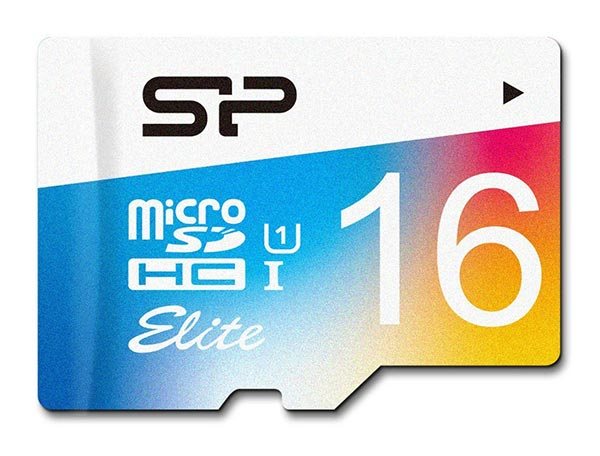 карта памяти Silicon Power 16Gb microSDHC Class 10 Elite COLORED