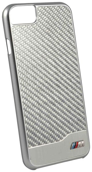 накладка BMW M-Collection Aluminium&Carbon iPhone 7 silver