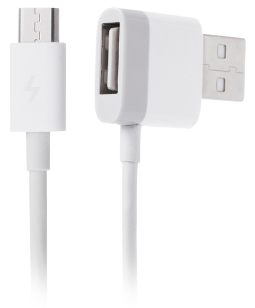 кабель передачи данных ZMI Micro USB Cable with Extra USB 120cm white