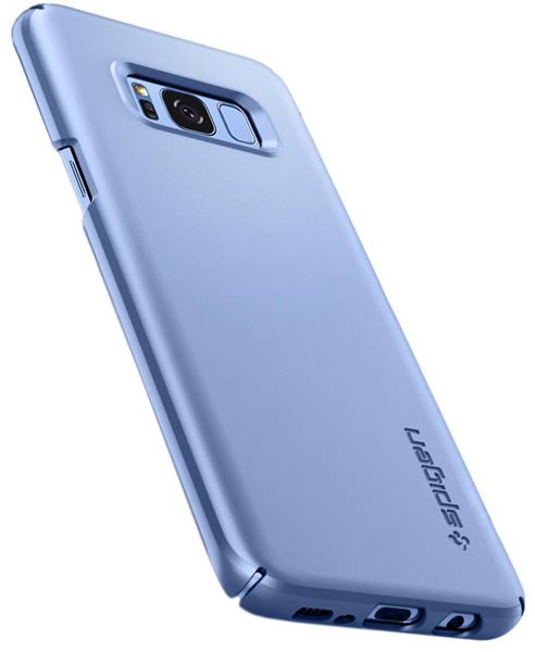 накладка Spigen для Galaxy S8 Thin Fit cyan