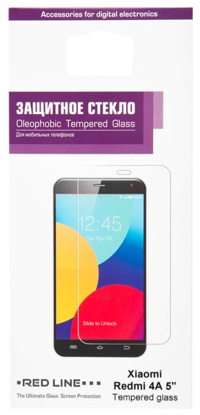 "защитное стекло Red Line для Xiaomi Redmi 4A 5"" tempered glass"