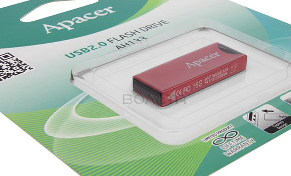 флешка USB Apacer AH133 8Gb red