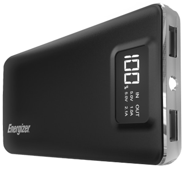 внешний аккумулятор Energizer Power Bank UE10018  digit screen 10000 mAh black