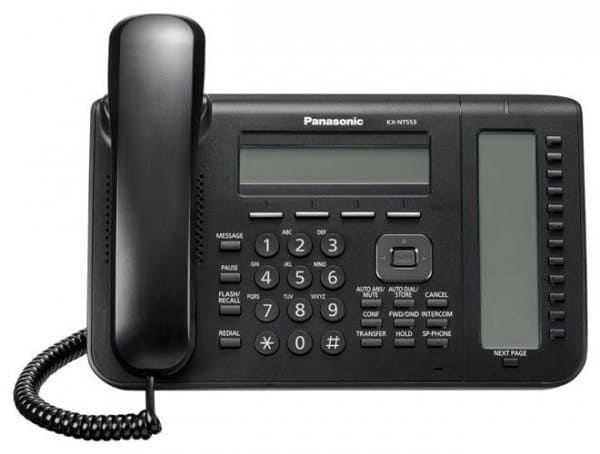 системный IP-телефон Panasonic KX-NT553RU black