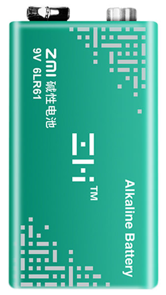 батарейка крона ZMI 6LR61 alkaline battery 9V