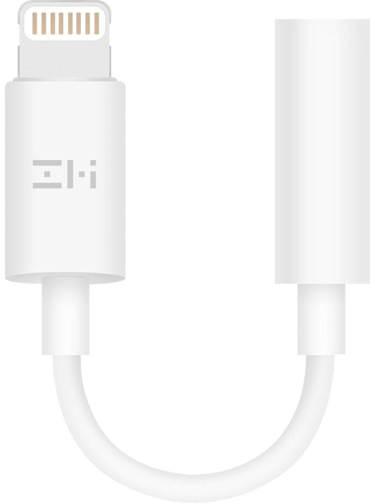 переходник Lightning-3.5 mm ZMI AL810 Lightning MFI  to AUX jack adapter white