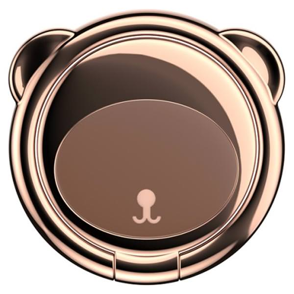 попсокет на телефон Baseus Bear Finger Metal Ring Grip Stand Holder brown