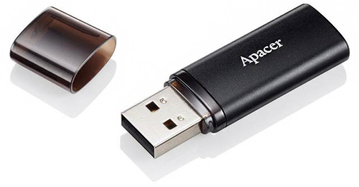 флешка USB Apacer AH23B 32GB black