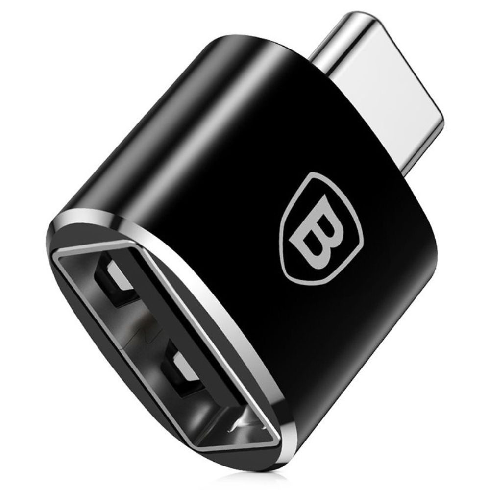 OTG адаптер Baseus USB Female To Type-C Male Adapter Converter black
