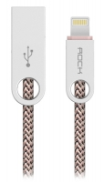 кабель передачи данных Rock Lightning to USB Cobblestone Charge & Sync 1м