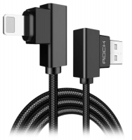 угловой кабель для iPhone Rock Lightning to USB Dual-end-L-shape cable 1 м